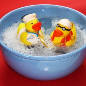 Lekker in bad