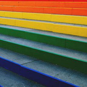 regenboog trap